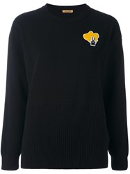 Peter Jensen Bunny Patch Jumper Black
