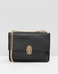 Mango Buckle Detail Handbag Black