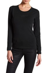 Giorgio Armani Long Sleeve Crew Neck Shirt Black