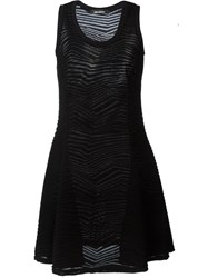 Neil Barrett Zig Zag Knit Dress Black