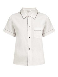 Morgan Lane Tami Cotton Pyjama Top White