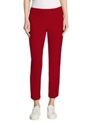 Theory Alettah Approach Skinny Pants Crimson Red