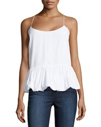 F.T.B By Fade To Blue Woven Bubble Tank White