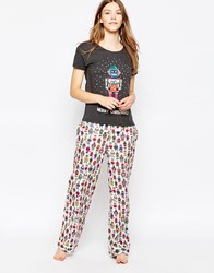 Cath Kidston Robot Long Pyjama Bottoms Multi
