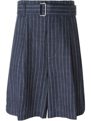 3.1 Phillip Lim Wide Pinstripe Shorts Blue
