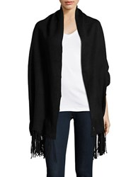 Bcbgeneration Reversible Fringe Trimmed Knit Shrug Black
