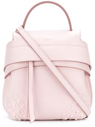 Tod's Wave Mini Backpack Pink And Purple