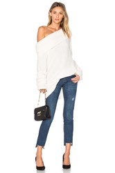Project Social T Monet Off Shoulder Sweater Ivory