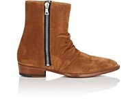 Amiri Skinny Stack Suede Ankle Boots Beige Tan