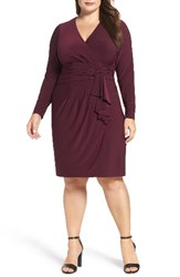 Eliza J Plus Size Women's Faux Wrap Jersey Dress
