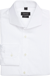 Barneys New York Trim Fit Shirt White