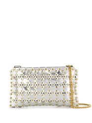 Red Valentino V Flower Puzzle Cross Body Bag Silver