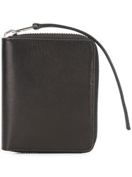 Rick Owens Zip Around Wallet Black