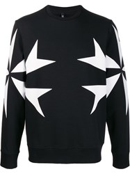 Neil Barrett Geometric Print Sweatshirt Black
