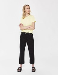 Christophe Lemaire Twisted Denim Pant In Black
