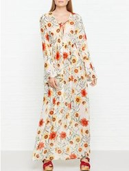 Wildfox Couture Wild Daisy Lace Up Dress Multicolour