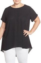 Plus Size Women's Vince Camuto High Low Short Sleeve Blouse