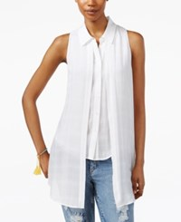 Rachel Rachel Roy Sleeveless High Low Shirt White