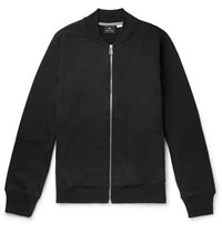 Paul Smith Ps By Organic Loopback Cotton Jersey Bomber Jacket Black