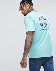 Diamond Supply Co. T Shirt With Worldwide Back Print In Green Green