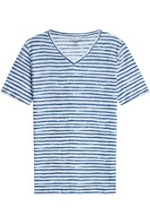 Majestic Striped Linen T Shirt Gr. L