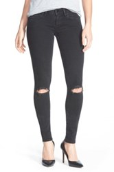 Mavi Jeans Adriana Distressed Stretch Skinny Jean Black