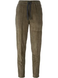 Eleventy Cropped Trousers Brown