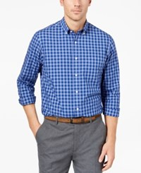 Club Room Men's Gingham Shirt Created For Macy's Waterdrop