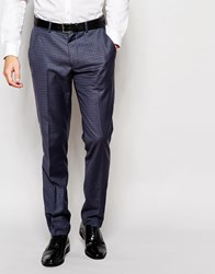 Vito Super Skinny Check Trousers Blue