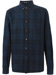 Blk Dnm Plaid Shirt Blue
