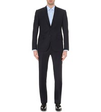 Hardy Amies Brinsley Fit Single Breasted Wool Suit Navy