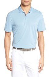 Ag Jeans Men's The Berrian Pique Polo Clear Sky