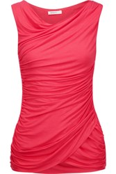 Bailey 44 Ruched Stretch Jersey Tank Bubblegum