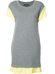 Boutique Moschino Lace Detailing T Shirt Dress Grey