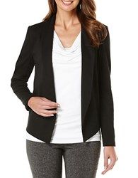 Rafaella Sheer Back Ponte Jacket Black