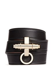 Givenchy 'Obsedia' Triple Wrap Leather Bracelet Black