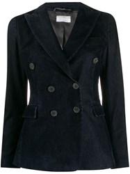 Kiltie Double Breasted Fitted Jacket Blue