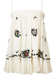 Derek Lam 10 Crosby Embroidered Skirt And Blouse White