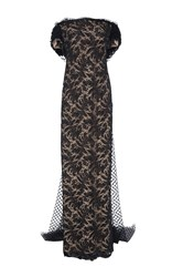 Elizabeth Kennedy Off The Shoulder Gown With Cape Black