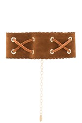 Ettika Suede Choker Brown