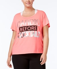 Material Girl Active Plus Size Metallic T Shirt Only At Macy's Flashmode