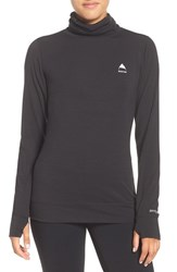 Burton Women's Midweight Long Neck Top True Black