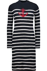 Etoile Isabel Marant Earl Intarsia Knit Sweater Dress Midnight Blue