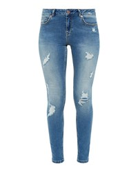 Ted Baker Kimle Ripped Skinny Jeans Blue