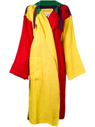 Jc De Castelbajac Vintage Oversized Light Coat Multicolour