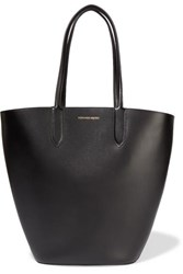 Alexander Mcqueen Basket Leather Tote Black