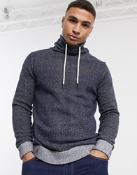 Produkt Funnel Neck With Draw String Knit Navy