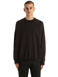Yeezy Crewneck Cotton Sweatshirt Black