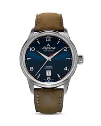 Alpina Alpiner Automatic Watch 41.5Mm Navy Brown