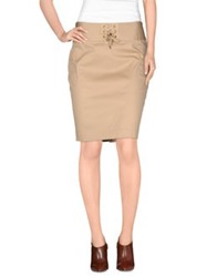 Roccobarocco Knee Length Skirts Sand